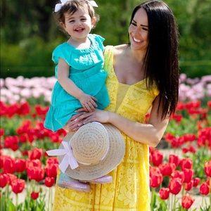 Yellow Lace Gianni Bini Dress
